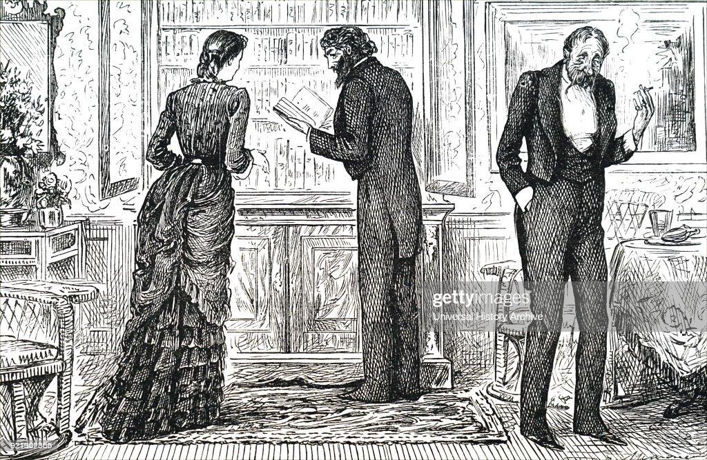 A man looking through a bookshelf. : News Photo