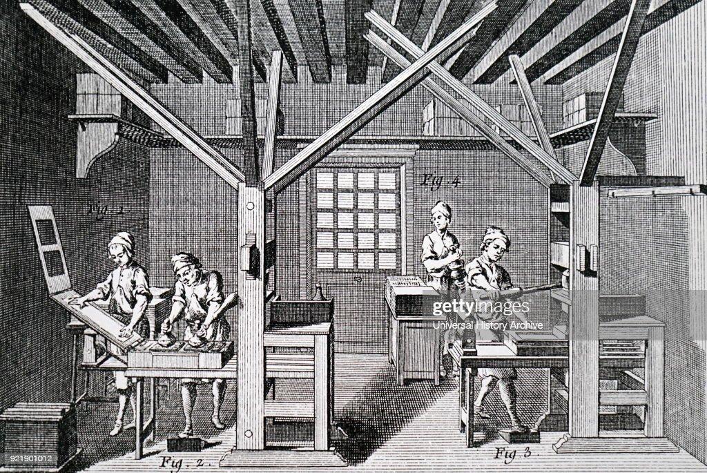 A printer's workshop. : News Photo