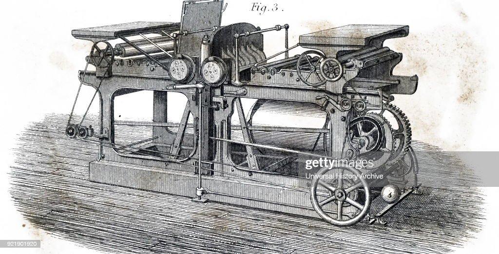 A printing machine. : News Photo