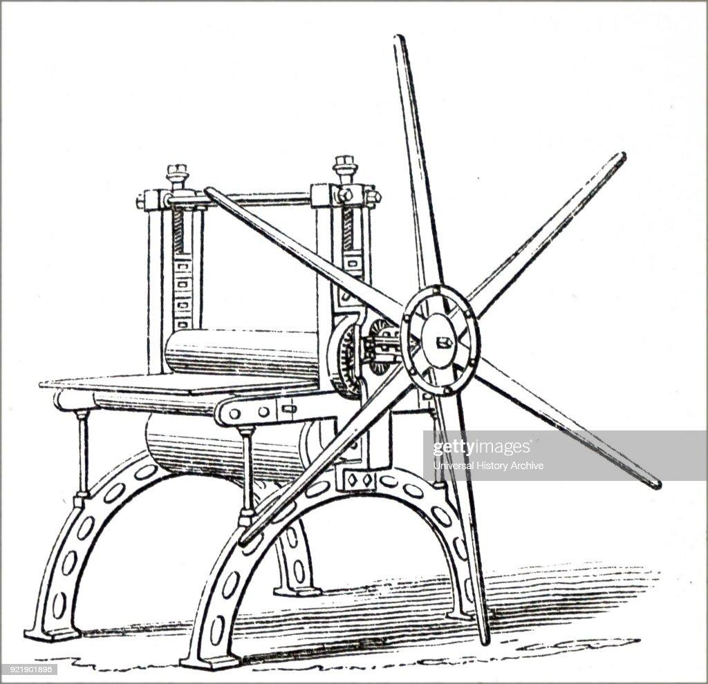 A printing press. : News Photo