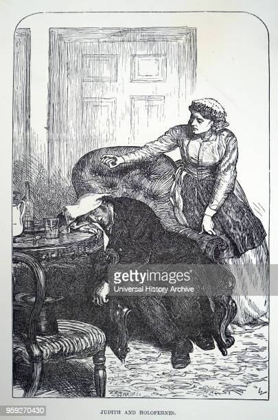 Illustration depicting a scene from 'The Adventures of Philip' by William Makepeace Thackeray A nurse is shown to be administering chloroform to her...