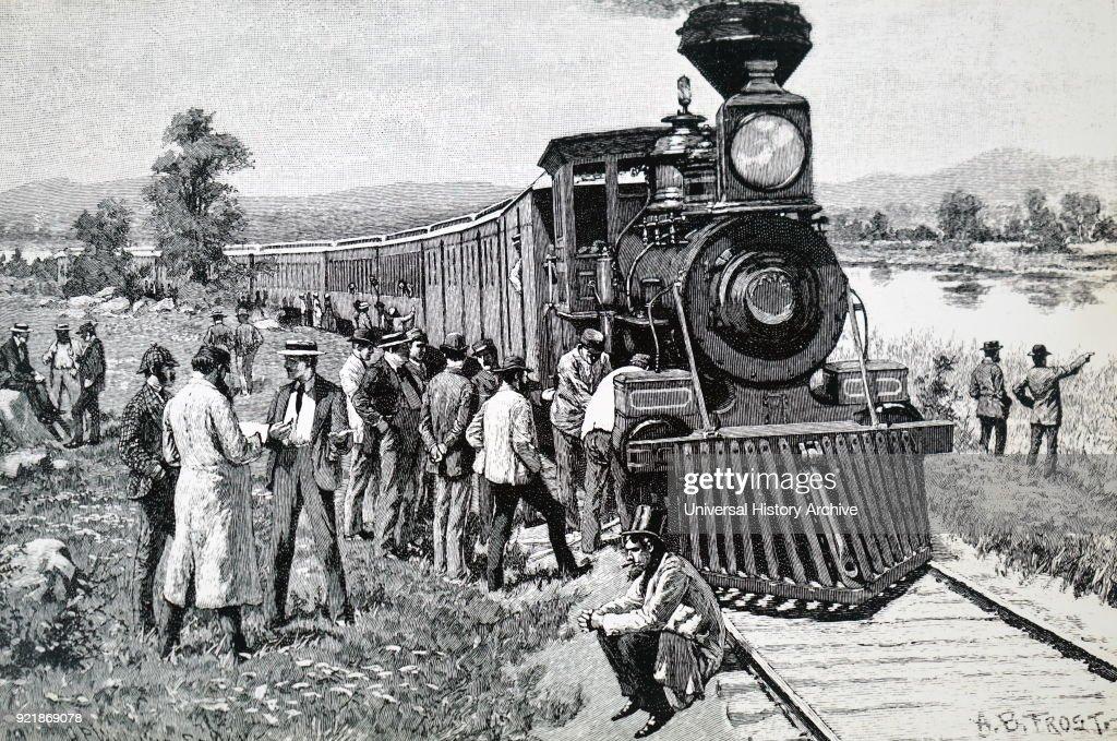 A steam train which has broken-down. : News Photo