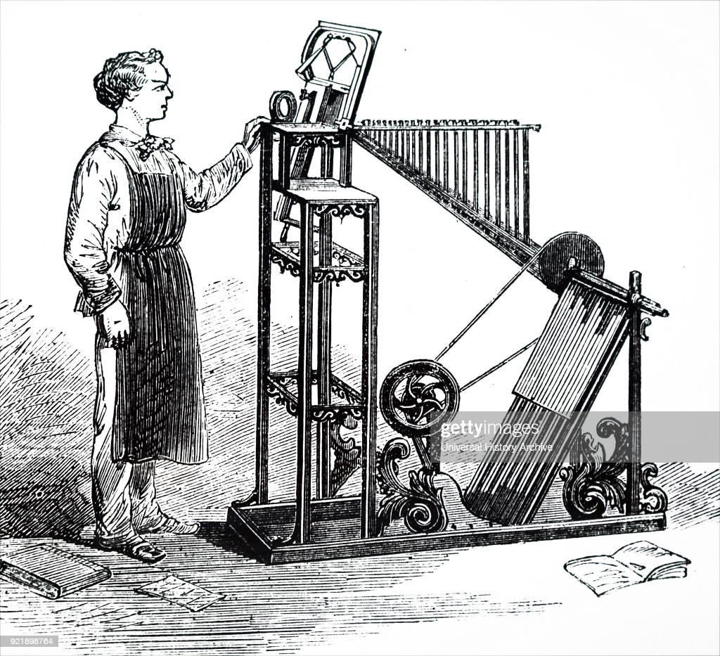 A type-composing and distributing machines. : News Photo