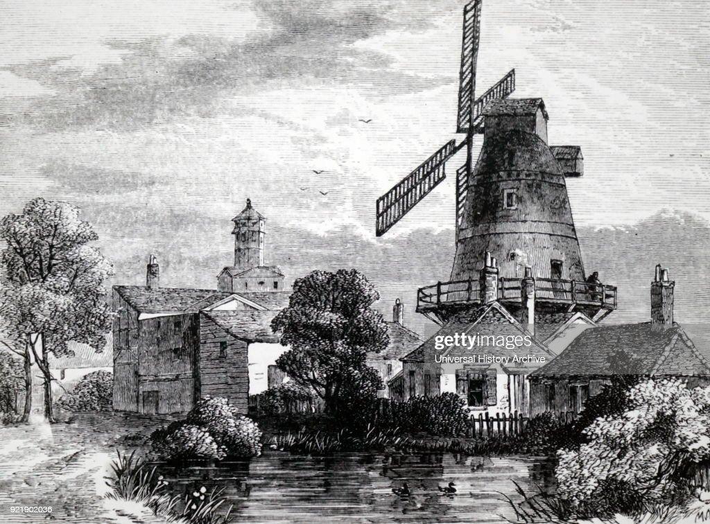 A windmill at Lambeth. : News Photo