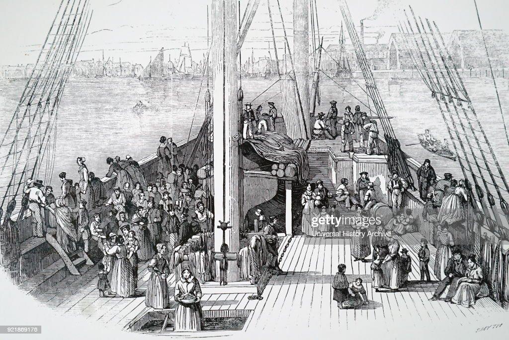 An emigrant ship leaving Liverpool. : News Photo