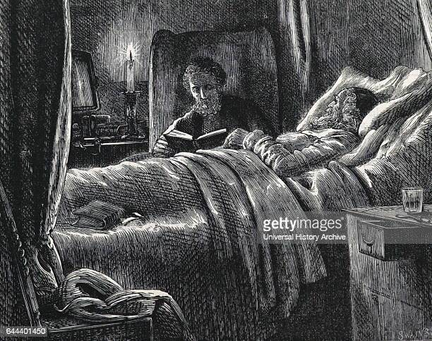 Illustration depicting an old man approaching death Illustrated by Francis Wilfred Lawson a British artist Dated 19th Century