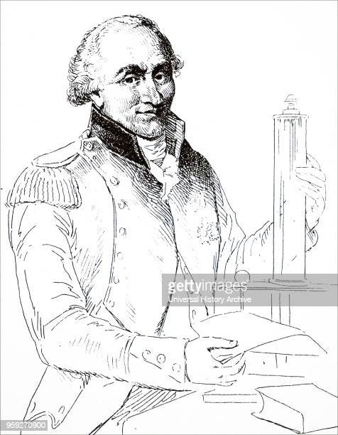 Illustration depicting CharlesAugustin de Coulomb a French military engineer and physicist Dated 20th century