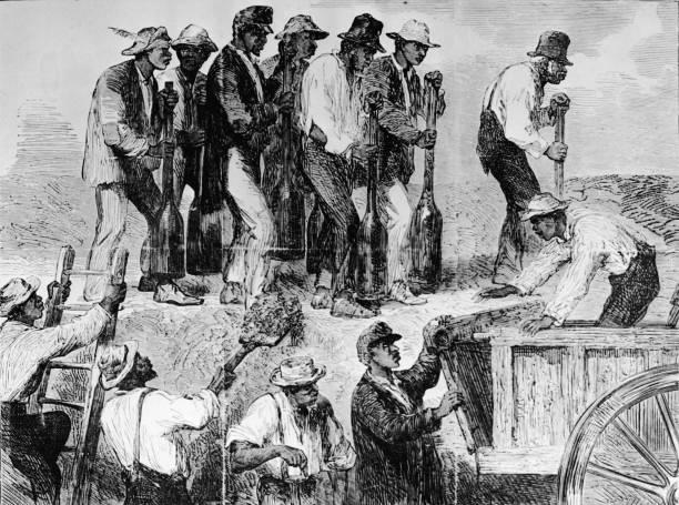 Slave Labor At Camp In Charleston Wall Art
