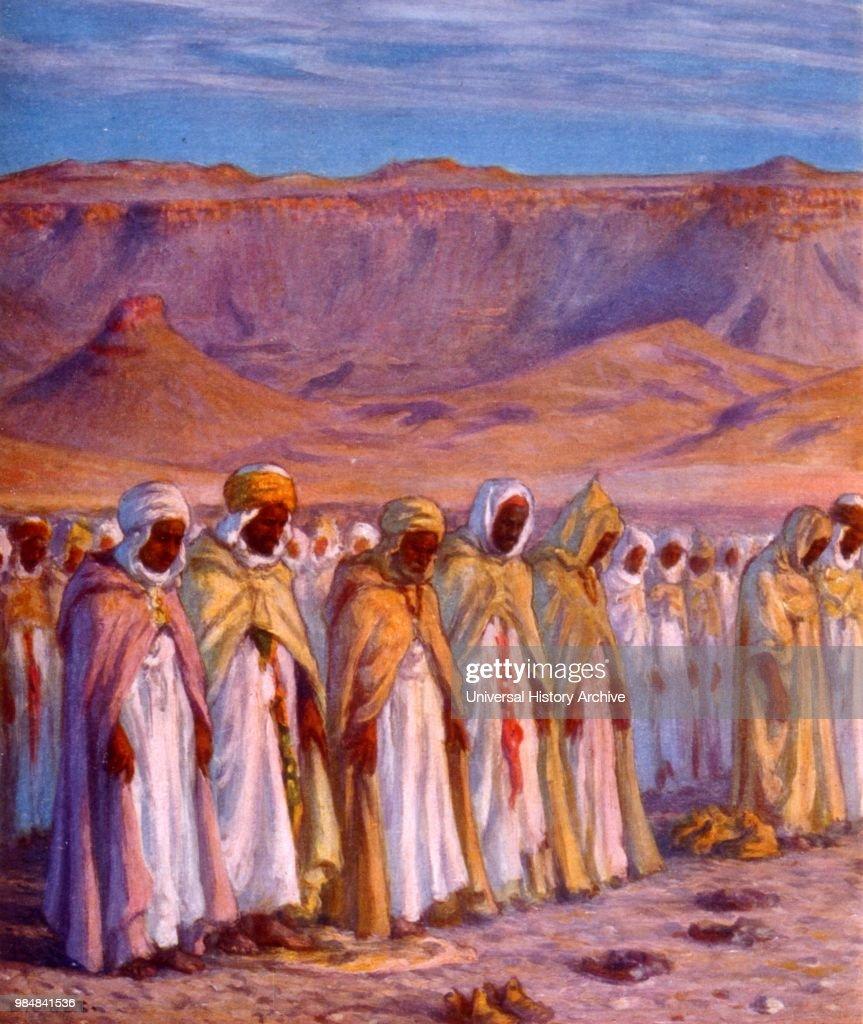 Illustration depicting Moslem Arab pilgrims en-route to Mecca. by ...
