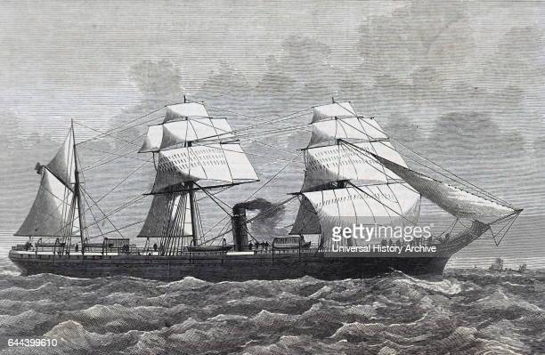 Illustration depicting the 'Alfonso XII' steamship. Dated 19th Century.