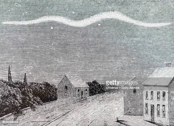 Illustration depicting the Aurora Borealis observed from Dublin Dated 19th Century