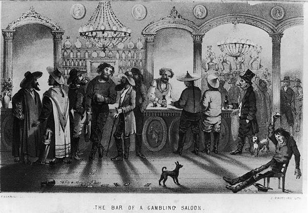 The Bar Of A Gambling Saloon Wall Art