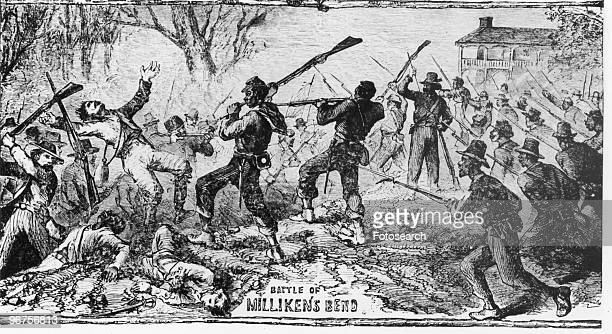 Illustration depicting the 'Battle of Milliken's Bend' which was part of the Vicksburg Campaign of the American Civil War Madison Parish Louisiana...