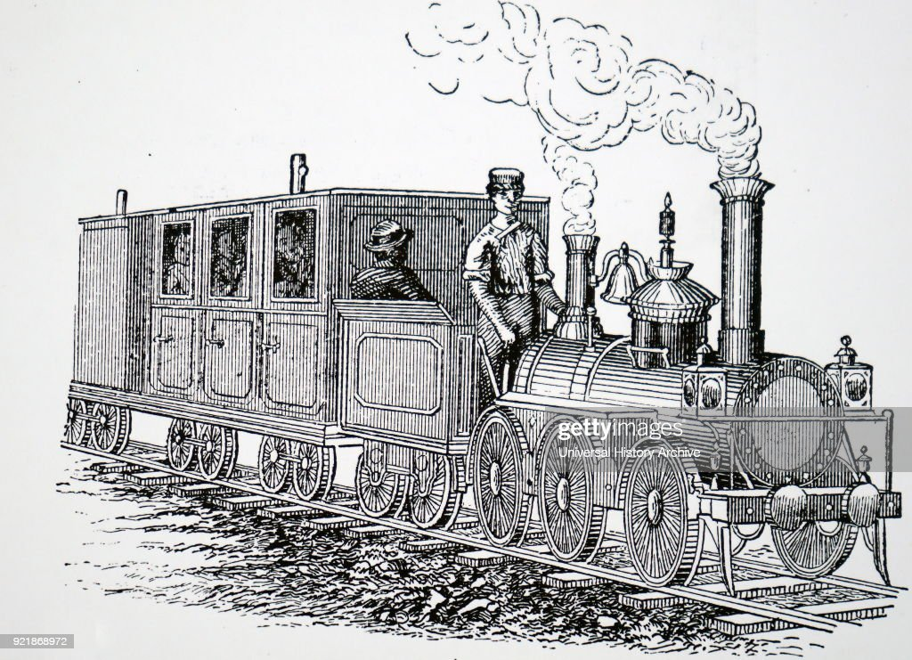 Illustration depicting the engine 'Little Wonder' on the Portmadoc and Festing narrow gauge railway. Dated 19th century.