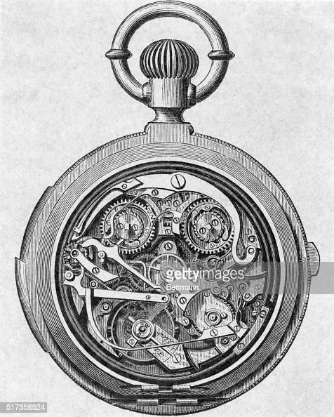 Illustration Depicting The Inside Works Of A Swiss Pocket