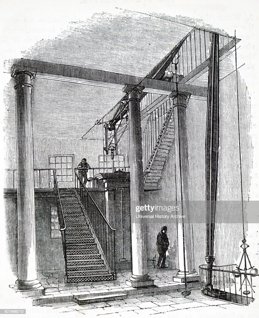 Illustration depicting the interior of a zinc works, located on city road, London. Dated 19th century.