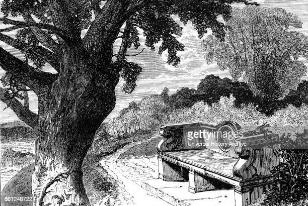 Illustration depicting the spot in Holwood Park where William Wilberforce and William Pitt the Younger decided to raise the question of abolition...