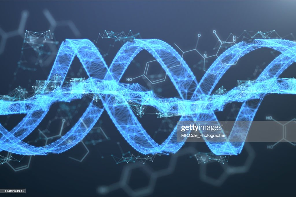 illustration DNA Futuristic digital background,Abstract background for Science and technology : ストックフォト