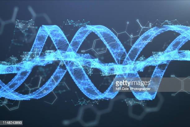 illustration dna futuristic digital background,abstract background for science and technology - new life stock pictures, royalty-free photos & images