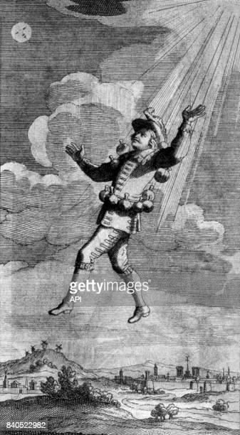 Illustration du livre 'Histoire comique des Etats et Empires de la Lune' de Savinien de Cyrano de Bergerac.