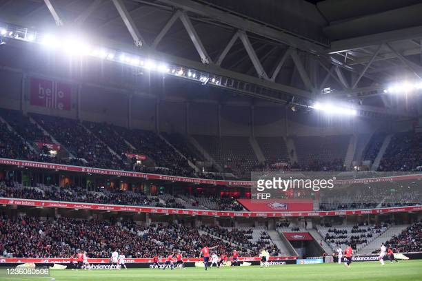 Illustration during the Ligue 1 Uber Eats match between Lille and Brest at Stade Pierre Mauroy on October 23, 2021 in Lille, France.