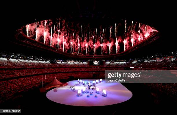 Illustration during the Opening Ceremony of the Tokyo 2020 Olympic Games at Olympic Stadium on July 23, 2021 in Tokyo, Japan.