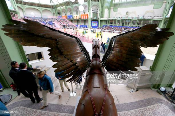 Illustration during the Saut Hermes 2017 at Grand Palais on March 17 2017 in Paris France