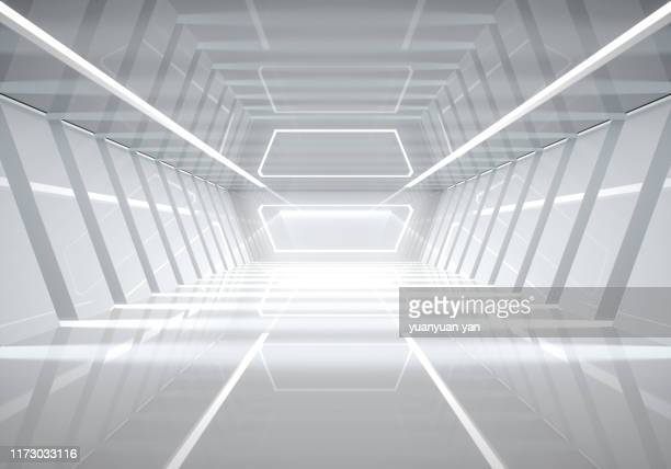 3d illustration empty futuristic space - space travel vehicle stock pictures, royalty-free photos & images