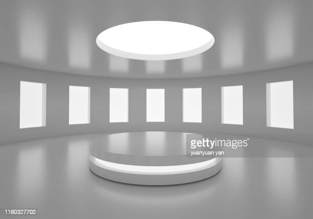 3d illustration empty space background - winners podium stock pictures, royalty-free photos & images