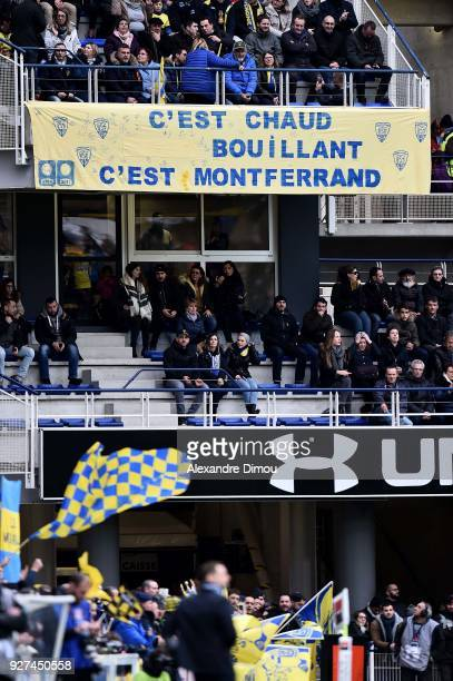 Illustration Fans of Clemront during the French Top 14 match between Clermont and La Rochelle at Stade Marcel Michelin on March 4 2018 in...