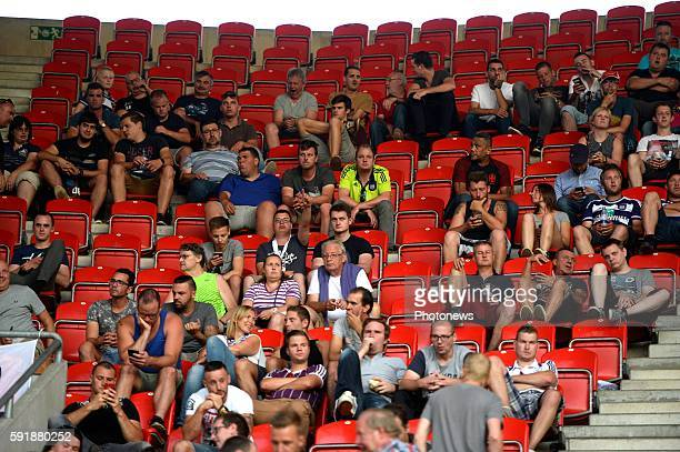 illustration fans of rsca in the stand pictured during europa league match play off between RSC Anderlecht and Slavia Prague on August 18 2016 in...