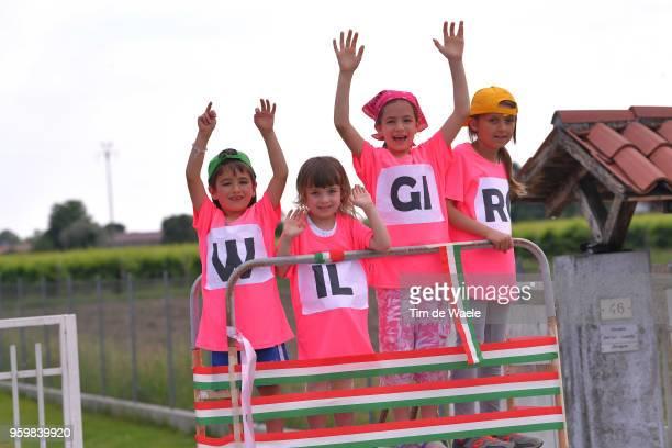 Illustration / Fans / Public / Children / during the 101st Tour of Italy 2018, Stage 13 a 180km stage from Ferrara to Nervesa Della Battaglia / Giro...