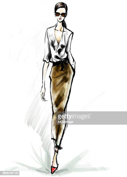 Illustration: fashion model