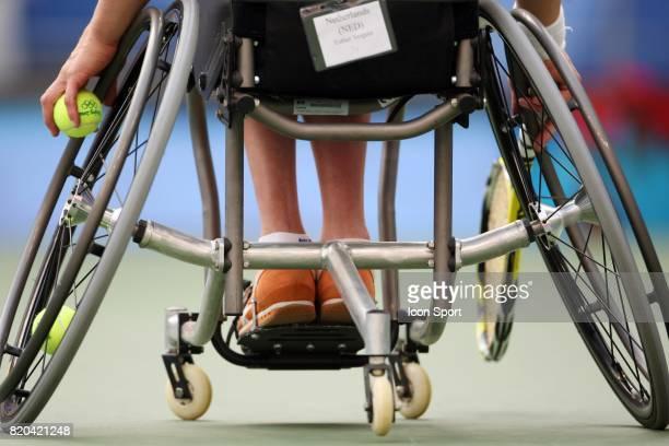 Illustration fauteuille Tennis finale simple femme Jeux Paralympiques de Pekin 2008