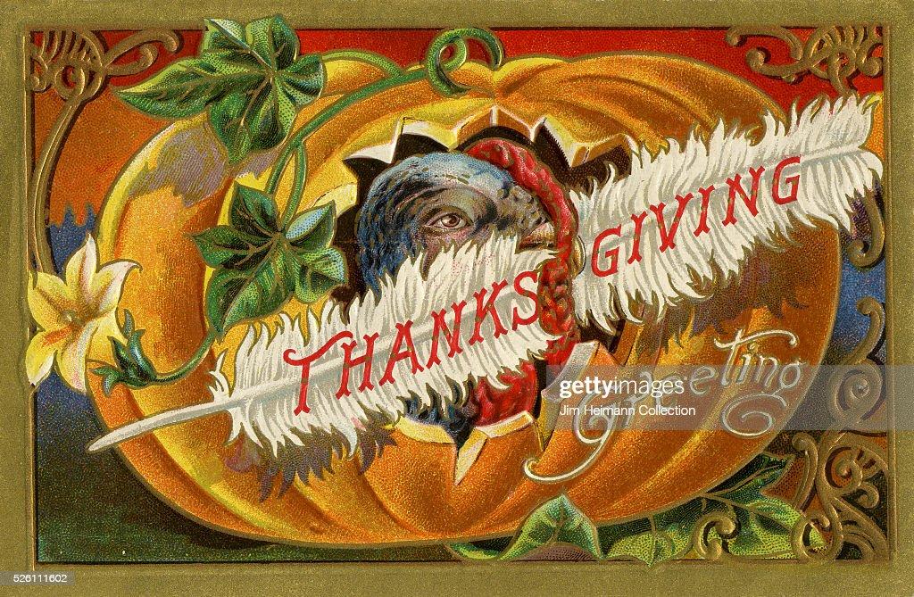 Thanksgiving postcard. : News Photo
