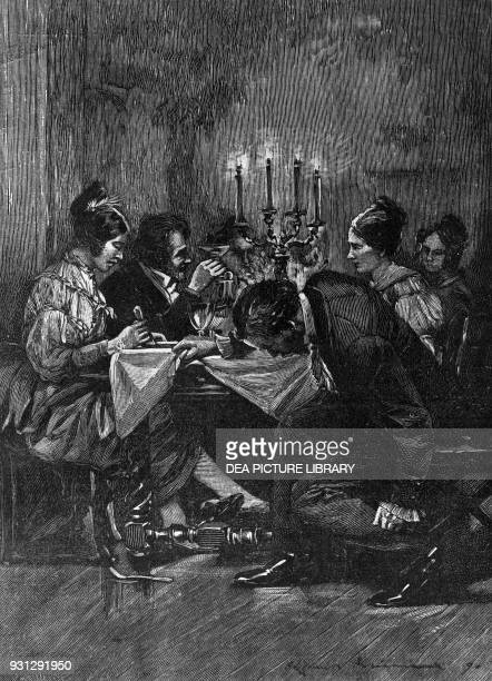 Illustration for Confession of a Child Of the Century novel by Alfred de Musset engraving by Paul Leon Jazet published by Ancienne Maison Quantin...