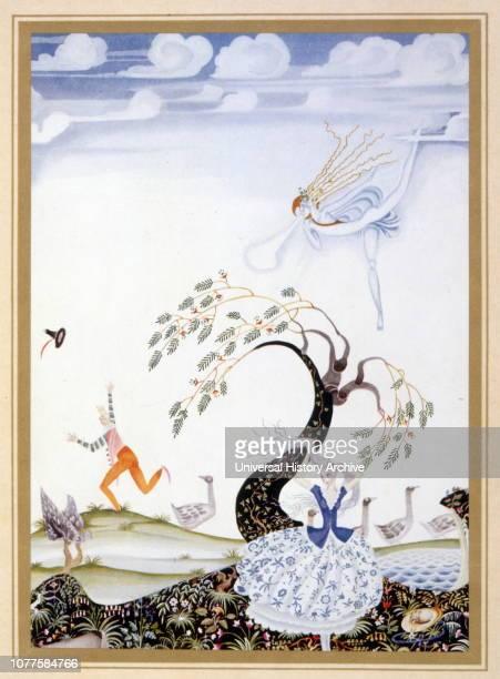 Fleur Illustration illustration for 'fleur de neige ',jacob and wilhelm grimm