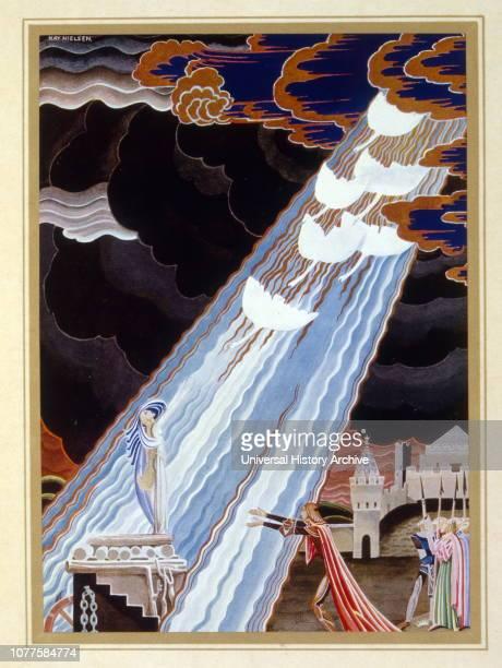 Illustration for 'Fleur de Neige ' by Jacob and Wilhelm Grimm Illustration by Kay Nielsen 1925