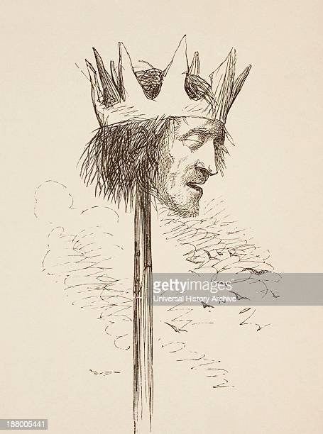 Illustration For King Henry Vi Part Iii By William Shakespeare Queen Margaret Speaks Off With His Head And Set It On York Gates So York May Overlook...