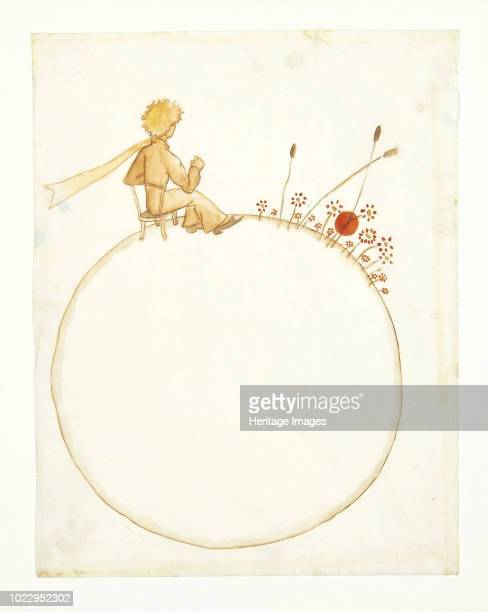 Illustration for novella The Little Prince 1942 Private Collection