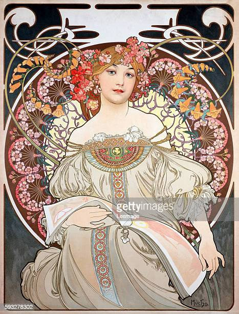 Illustration for the Calendar of 1896 by Alphonse Mucha Private collection