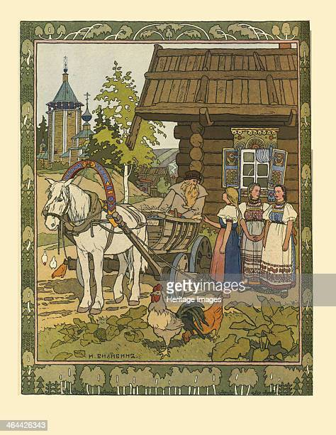 Illustration for the Fairy tale The Feather of Finist the Falcon 19011902 Found in the collection of the Museum of the Goznak Moscow