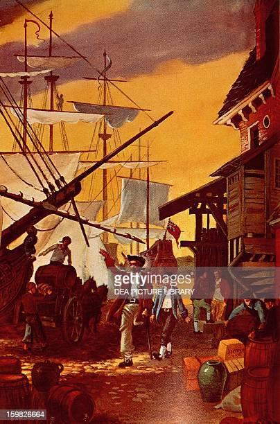 Illustration for Treasure Island novel by Robert Louis Balfour Stevenson