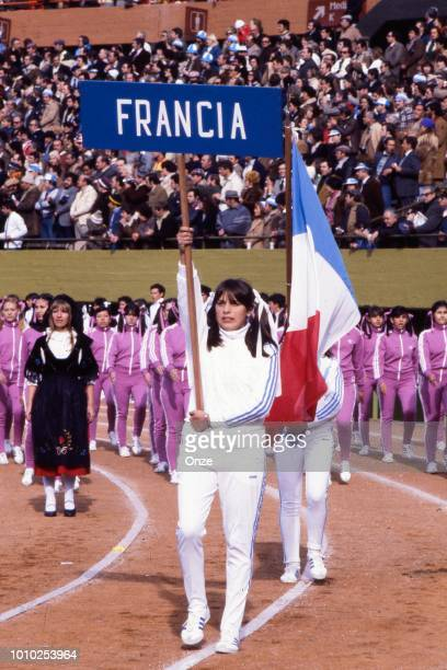Illustration French Flag at Ceremony during the World Cup match between Germany FR and Poland at Estadio Monumental Buenos Aires Argentina on 1st...