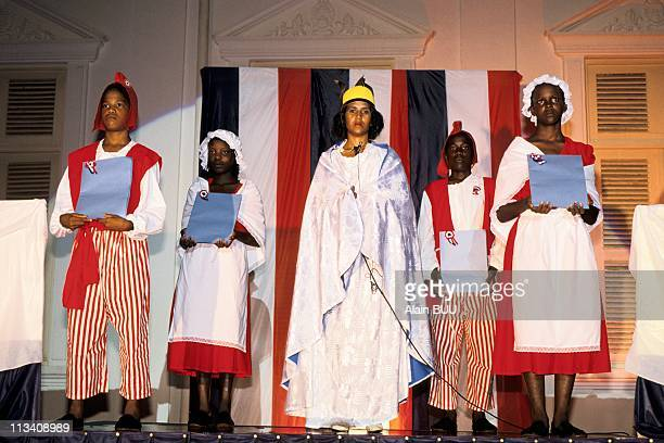 Illustration French Guiana On August 1989 Celebration For The Bicentenary Of French Revolution