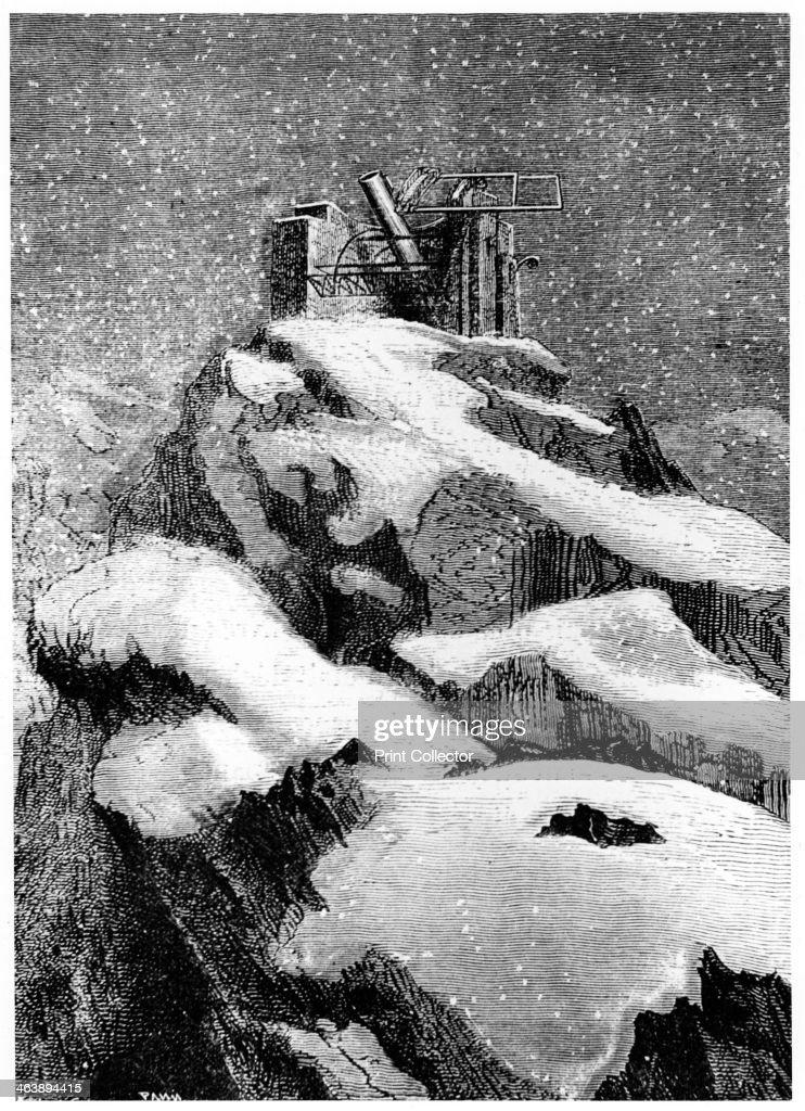 Illustration from De la Terre a la Lune by Jules Verne, 1865. : News Photo