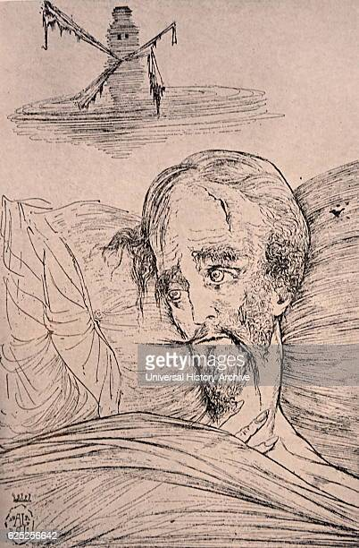 Illustration from Don Quixote by Miguelde Cervantes a Spanish writer Dated 17th Century