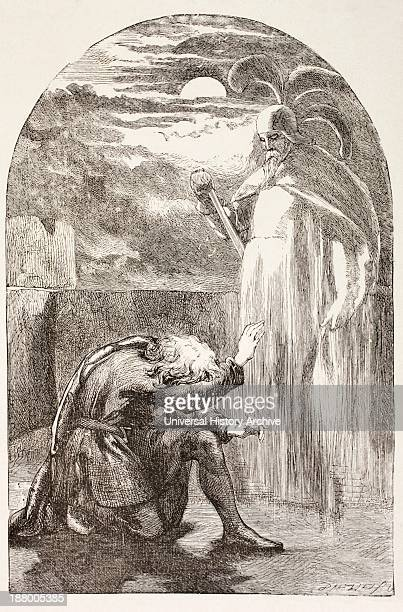 Illustration From Hamlet By William Shakespeare Hamlet Sees The Ghost The Spirit Of His Father From The Illustrated Library Shakspeare Published...