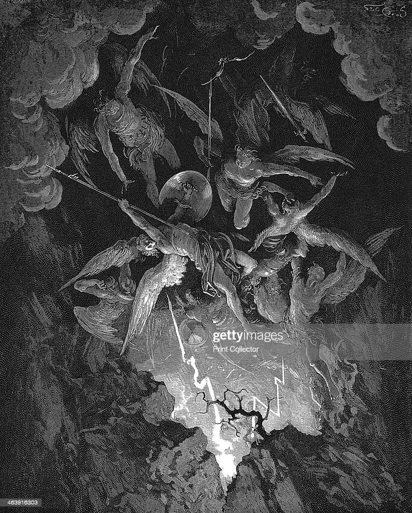 Illustration from John Milton's Paradise Lost, 1866. Artist: Gustave Doré : News Photo