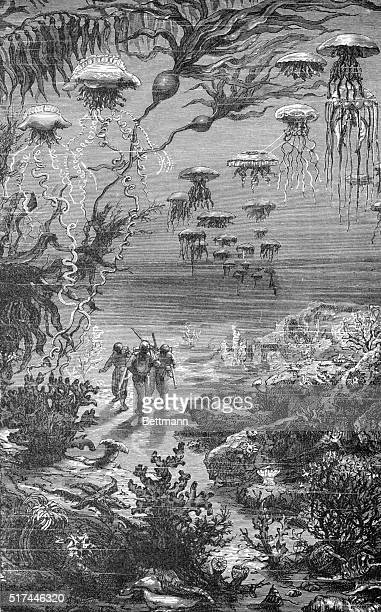 Illustration from Jules Verne's 20,000 Leagues Under Sea.